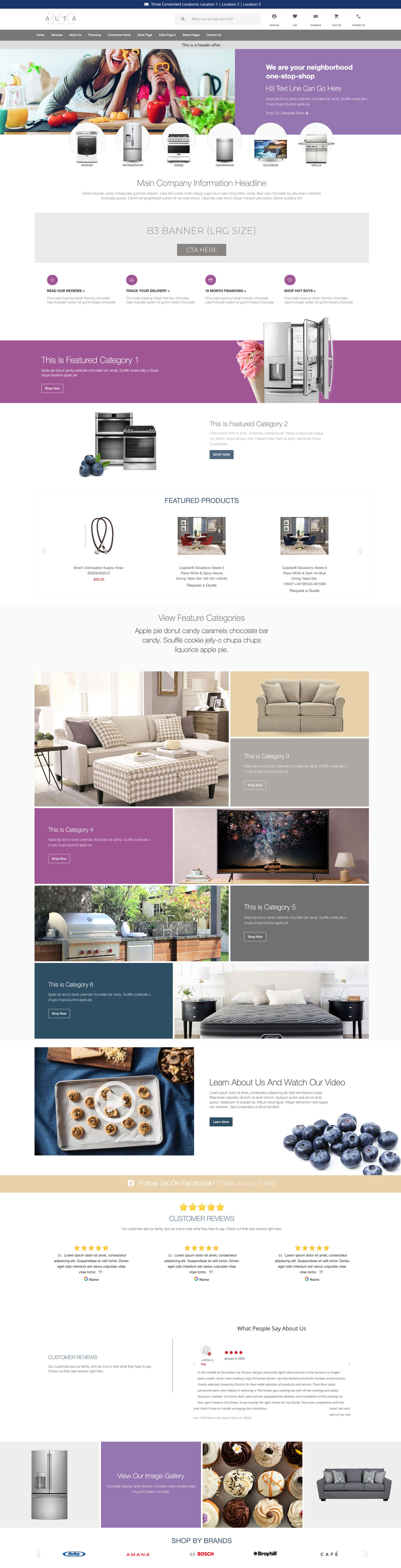 Website Themes - Commerce - Foothills