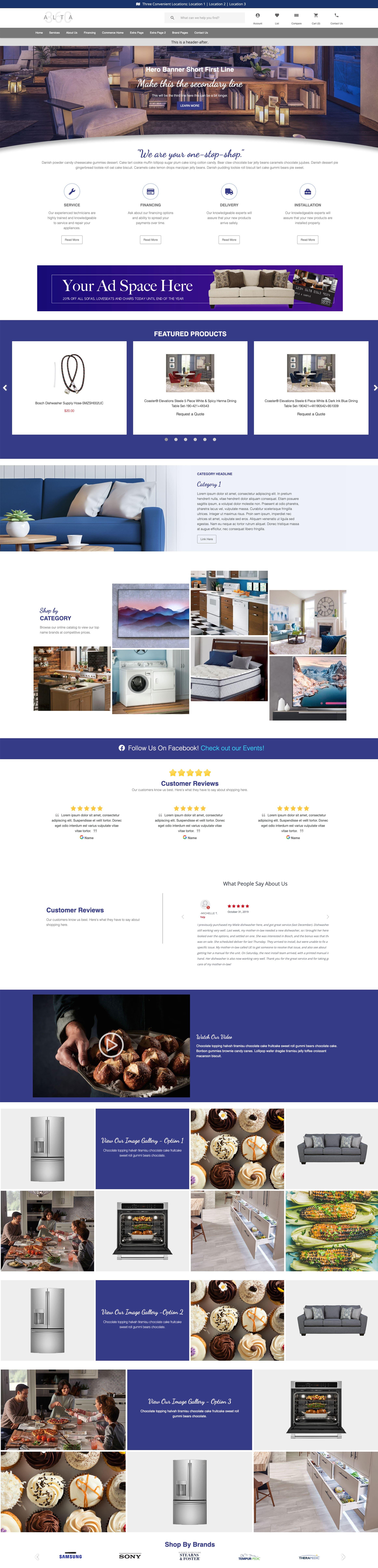Website Themes - Alta 360 - Masonry