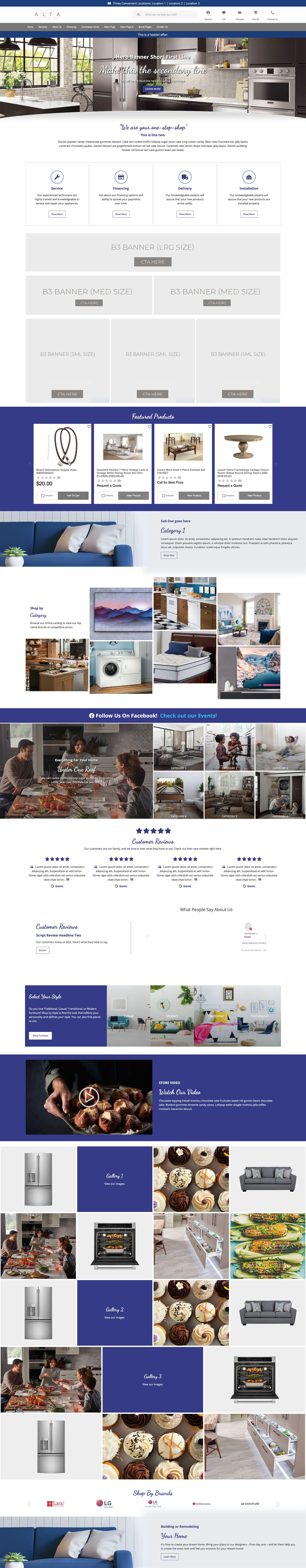 Website Themes - Commerce - Masonry