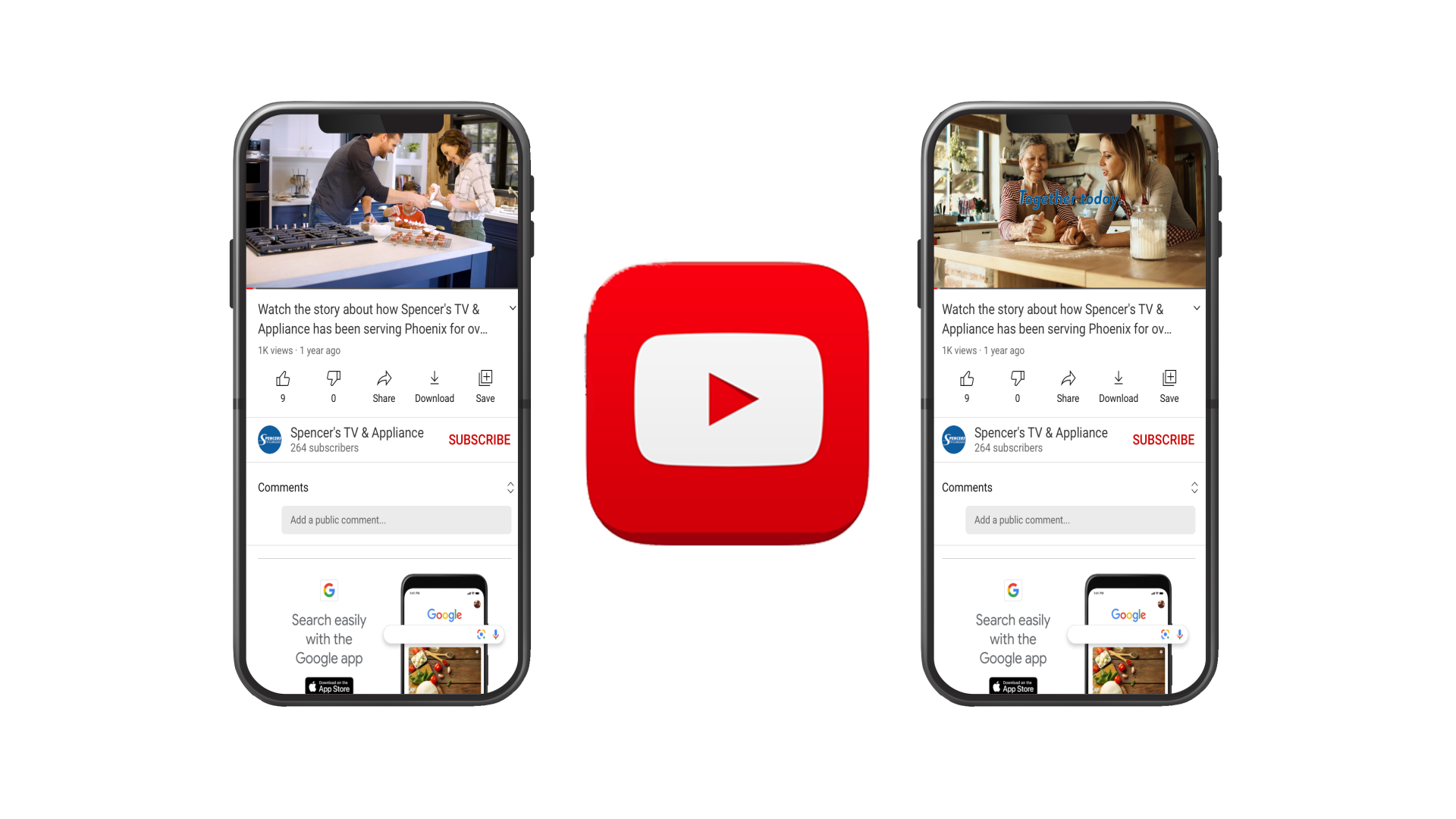 Youtube mobile video ad