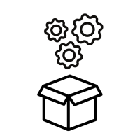 box icon with gears